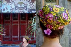 Spotted Lucile Jaeghers wearing DENETH postman cap in Vietnam