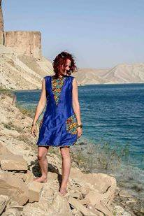 Camile spotted wearing 'DENETH' in Band-e-Amir Lake in Afghanistan.