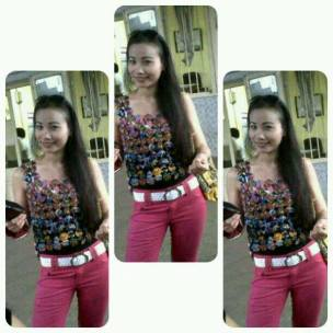 Spotted Akira Dewi wearing DENETH