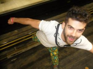 Spotted Florian wearing DENETH flower power pants in Montreal - Canada!