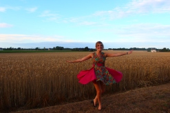 Tiphaine in Bel-Air, Bretagne wearing DENETH 2013 collection!