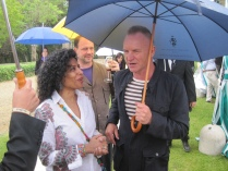 Spotted Ms.Ranmali Mirchandani wearing DENETH accessories - Banyan Bangles at a rendezvous with Sting in Italy 2012