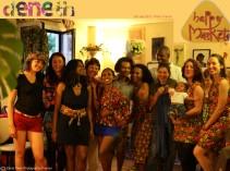 'Happy flower power Sri Lanka family in Paris'