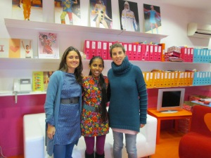 with Agatha Ruiz de la Prada's team in the Office, Madrid, Spain