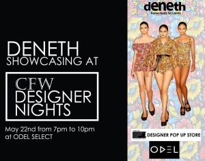 DENETH was at the selected designer show room at ODEL's in Sri Lanka this March 2015