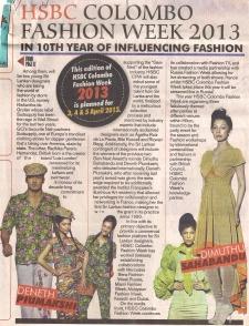 V Daily Mirror, Sri Lanka - 2013